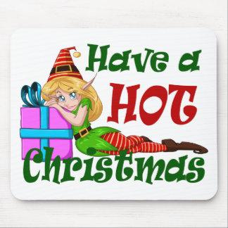 Mousepad A menina do duende tem um Natal QUENTE