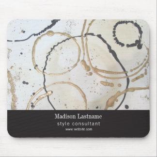 Mousepad Abstrato moderno elegante do ouro e do preto