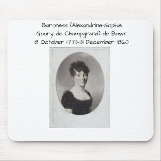 Mousepad Alexandrine Sophie Goury de Champgrand de Bawr