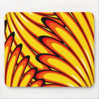 mousepad amarelo abstrato dos girassóis