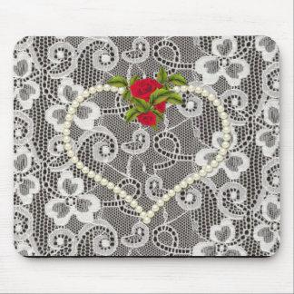"Mousepad ""Amor & romance"" Lace_Mouse-Pad completo"