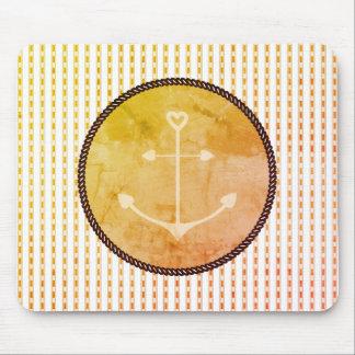 Mousepad Anchor_Heart_Golde-Fade_Peachy-Checks+