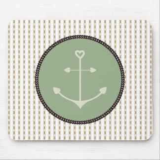 Mousepad Anchor_Heart_Green_Beige_
