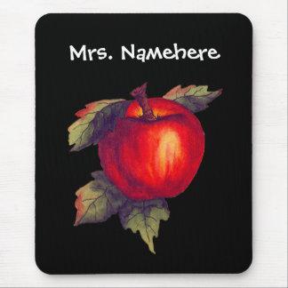 Mousepad Apple vermelho no preto