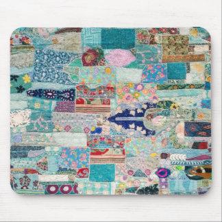 Mousepad Aqua e design azul da tapeçaria da edredão