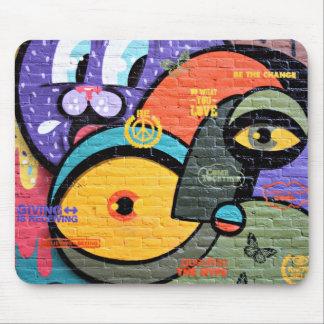 Mousepad Arte abstrata colorida dos grafites da rua