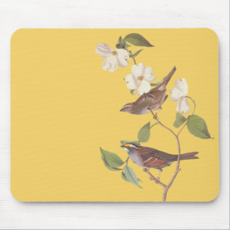 Mousepad Arte Throated branca de Audubon do vintage do