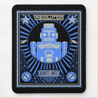 Mousepad Azul da revolução do robô