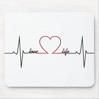 Mousepad Batimento cardíaco com citações inspiradas da vida