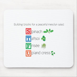 Mousepad Blocos de apartamentos para uma salada calma do