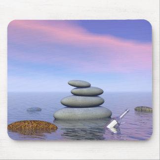 Mousepad Borboletas em vôo em uma paisagem do zen