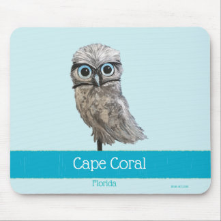 Mousepad Burrowing o coral FL do cabo da pintura da coruja