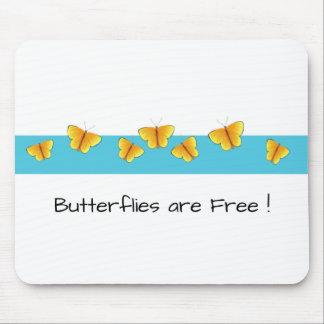 Mousepad Butterflies_are_Free (c) __Unisex