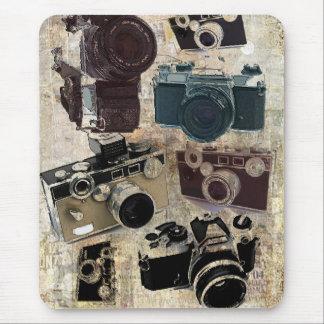 Mousepad câmera retro afligida da fotografia do fotógrafo