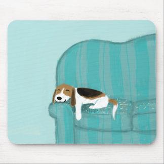 Mousepad Cão feliz do sofá - lebreiro bonito