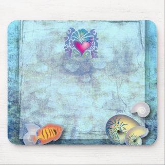 Mousepad casamento tropical da ilha dos seashells dos