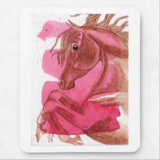 Mousepad Cavalo da castanha no tapete do rato da aguarela