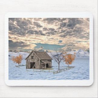 Mousepad Cena adiantada do celeiro do inverno