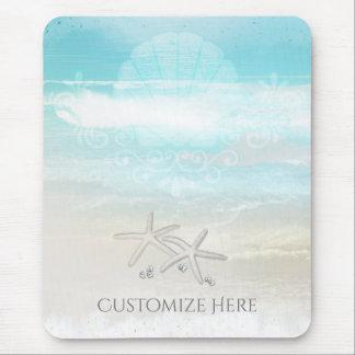 Mousepad Chique elegante do verão da estrela do mar branca