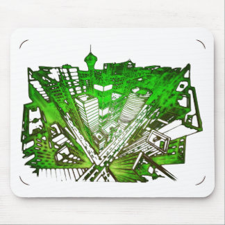 Mousepad city em 3 point version perspective special green