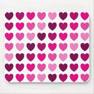 Mousepad cor-de-rosa dos corações