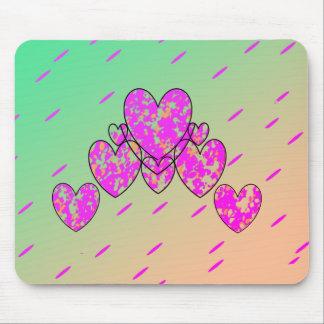Mousepad Coração-Fulgor feliz (c) - Lime-Pink_