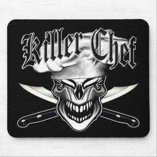 Mousepad Crânio de riso 10 do cozinheiro chefe