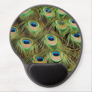 Mousepad De Gel Mousepad colorido do gel das penas de cauda do