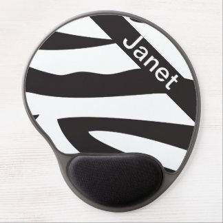Mousepad De Gel O impressão animal | da zebra preto e branco