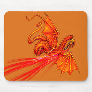 Mousepad de respiração do dragão do fogo