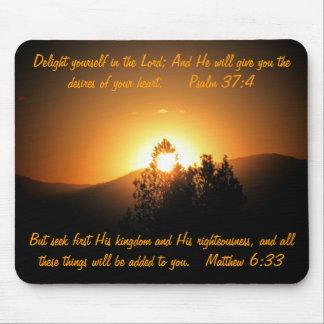 Mousepad Desejos de seus salmos e Matthew do coração