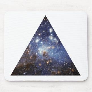 mousepad do triângulo do espaço do hipster