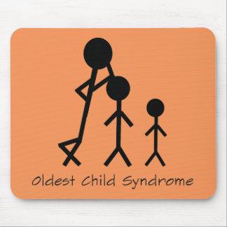 Mousepad engraçado da síndrome a mais velha da