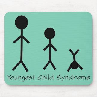 Mousepad engraçado da síndrome da criança a mais