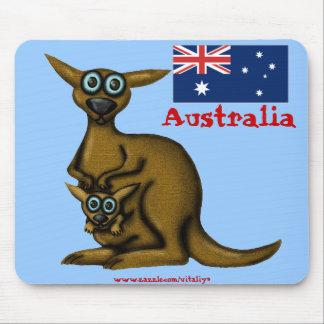 Mousepad engraçado de Austrália do canguru