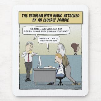 Mousepad engraçado: Zombi idoso