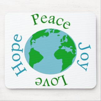 Mousepad Esperança do amor da alegria da paz