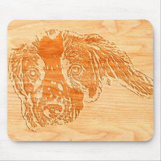 Mousepad Esteira de cinzeladura de madeira do rato do