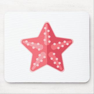 Mousepad Estilo cor-de-rosa do primitivo da estrela do mar