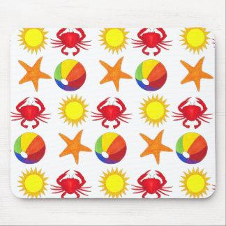 Mousepad Estrela do mar da luz do sol da bola de praia do