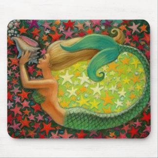 Mousepad Estrela do mar do círculo de s da sereia de