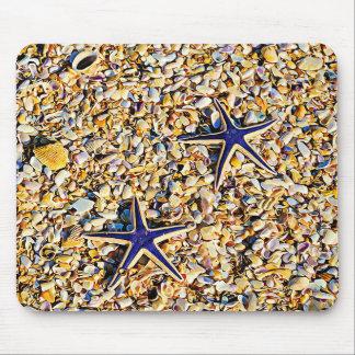 Mousepad Estrela do mar e tapete do rato dos Seashells