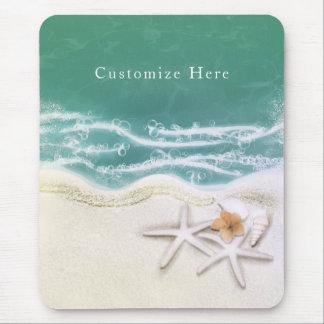 Mousepad Estrela do mar na água do mar da cerceta da praia