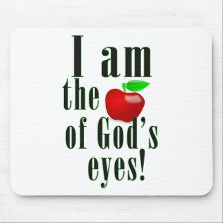 Mousepad Eu sou a maçã dos olhos do deus no verde