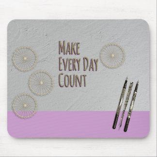 Mousepad Faça cada rosa da contagem do dia