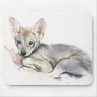 Mousepad Filhote de cachorro de lobo árabe ondulado 2009