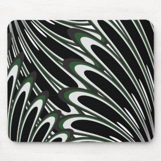 Mousepad floral verde do teste padrão do vetor
