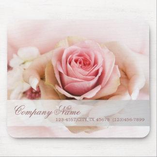 Mousepad florista elegante do casamento da flor do rosa do