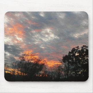 Mousepad Fotografia da paisagem da natureza do por do sol