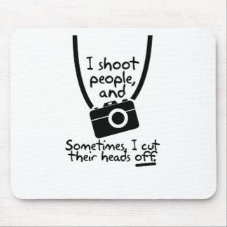Mousepad Fotógrafo, eu disparo em pessoas